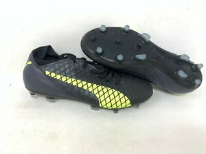 NEW-Puma-Men-039-a-Future-Lace-Up-Soccer-Cleats-Black-Yellow-104344-A25-z