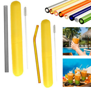 Wholesale-Pyrex-Glass-Drinking-Straw-For-Wedding-Birthday-Party-Cleaning-Brush