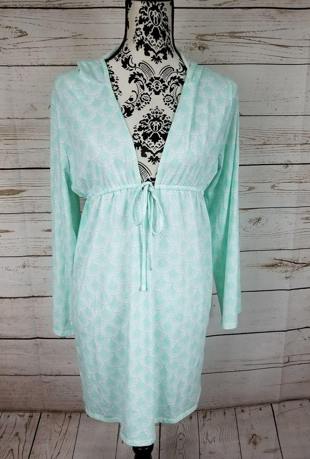 Nwt Peter Millar Grün mit Kapuze Spa Resort Badeanzug Bedeckung Damen XS