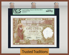 TT PK 9b 1938 FRENCH SOMALILAND 500 FRANCS PCGS 66 PPQ ONLY GEM KNOWN TO PCGS!