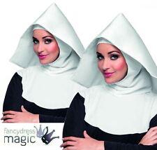 *Nun Headdress Hood Hat Ladies Mother Superior Fancy Dress Costume Hen Party Do*