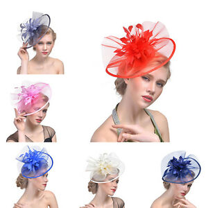 dba215ee4f0 Image is loading Large-Headband-Aliceband-Hat-Fascinator-Weddings-Ladies-Day -