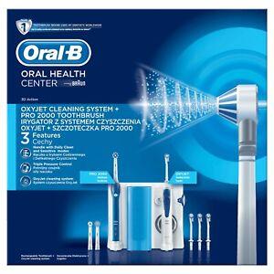Braun-Oral-B-Oxyjet-PRO-2000-Dental-Center-Munddusche-elektr-Zahnbuerste