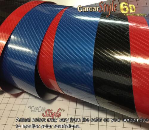 6D gloss 1520mm x 100 mm de fibre de carbone vinyle wrap film autocollant 5D aménagées
