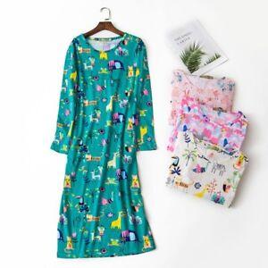 Women-039-s-Oversize-Sleep-Shirt-T-Shirt-Night-Gown-100-Cotton-Tee-Nightshirt-Dress