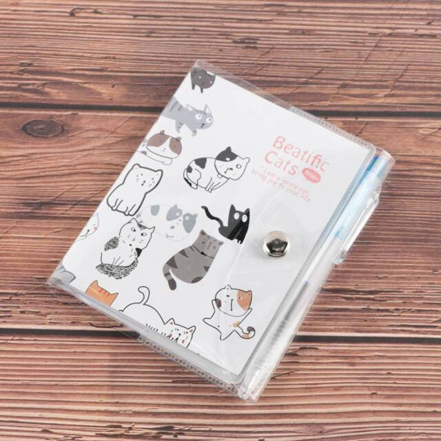 Cartoon Bear Plastic Case Button Diary Notebook Kids Stationery With Pen UK