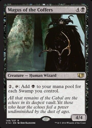 English Commander 2014 MTG Magic 1x Magus of the Coffers NM-Mint