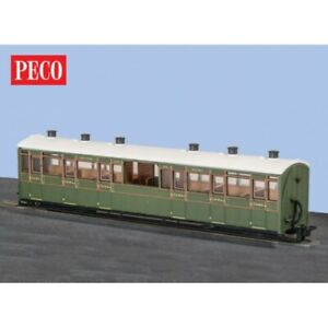 éNergique Oo9 Gauge Peco Gr-451a Centre Observation 3rd Coach Sr Green Livery #2466 Bnib Luxuriant In Design