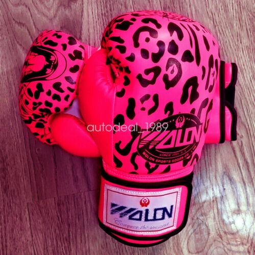 Adult Sport Boxing 10OzGloves Thai Training Leopard Playing Sandbag Glove A Pair