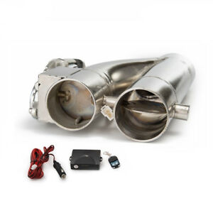 3 Electric Exhaust Downpipe Cutout E Cut Out Dual Valve Controller Remote Ebay