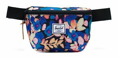 Herschel Fourteen Hip Pack Marsupio Borsa Painted Floral Blu Giallo Nuovo-