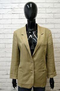Giacca-100-Lino-Blazer-Donna-MARELLA-Taglia-Size-48-Jacket-Woman-Cappotto