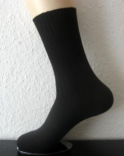 4 Paar Socken ohne Gummi Berufssocke 100/% Baumwolle 4//2 Rippe schwarz 35-42