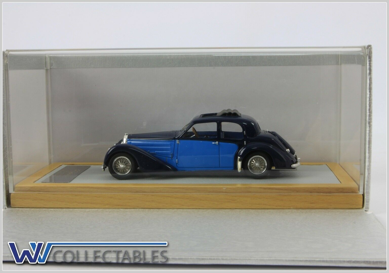 Bugatti t57 galibier 1937 sn57603 2 Tone 1 99 pieces ilario Chromes 1 43 cromático 054