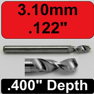 "Diameter Solid Carbide Drill 1//8/"" Shank Kyocera #105-0760.400 #48 .076/"""