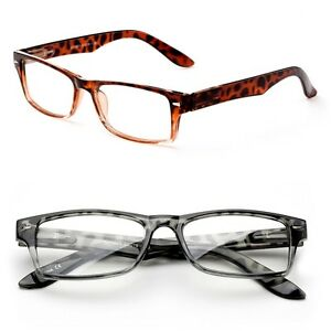 323cfb57d26 Image is loading Rectangular-Reading-Glasses-Tortoise-Frame-Style-Fashion- Readers-