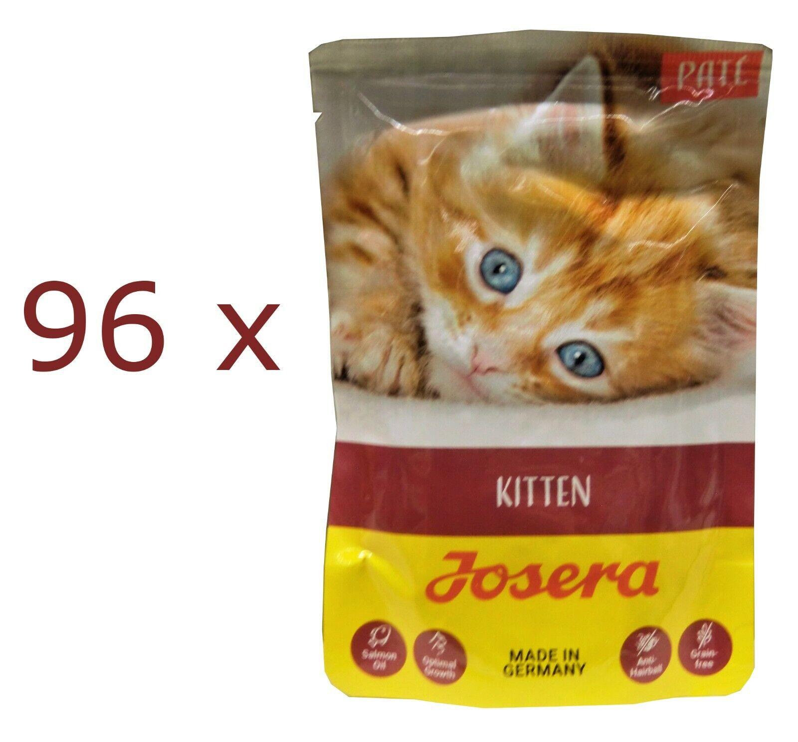 Josera Paté Kitten Nassfutter für Kätzchen, getreidefrei  96 x 85 g Beutel