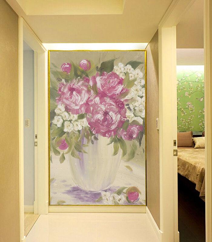 3D Vase Fleurs 89 Photo Papier Peint en Autocollant Murale Plafond Chambre Art