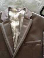 Mens Dolce & Gabbana size 40 chest (50 Italian) Silver Jacket (polyester/Silk)