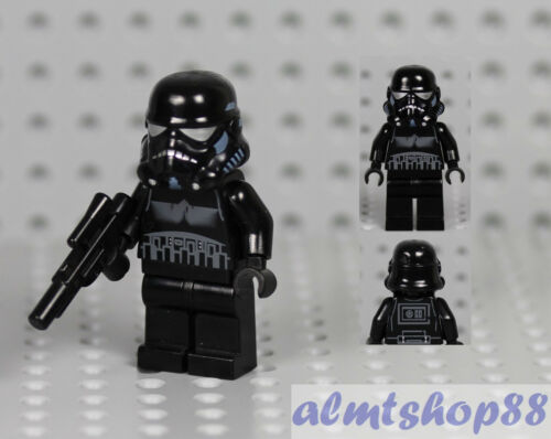 LEGO Star Wars Shadow Trooper Minifigure w// Blaster Gun 7664 7667 Weapon Black