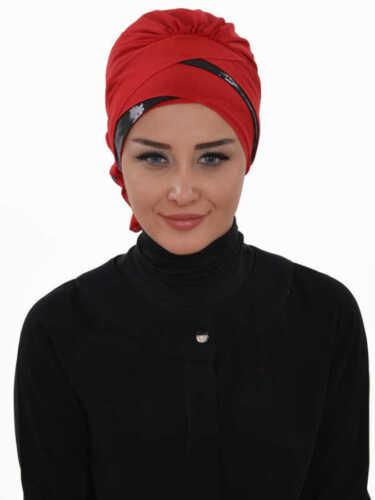 Ht-47 velo finito praticamente Hijab Chiffon türban Esarp Sal tesettür Khimar