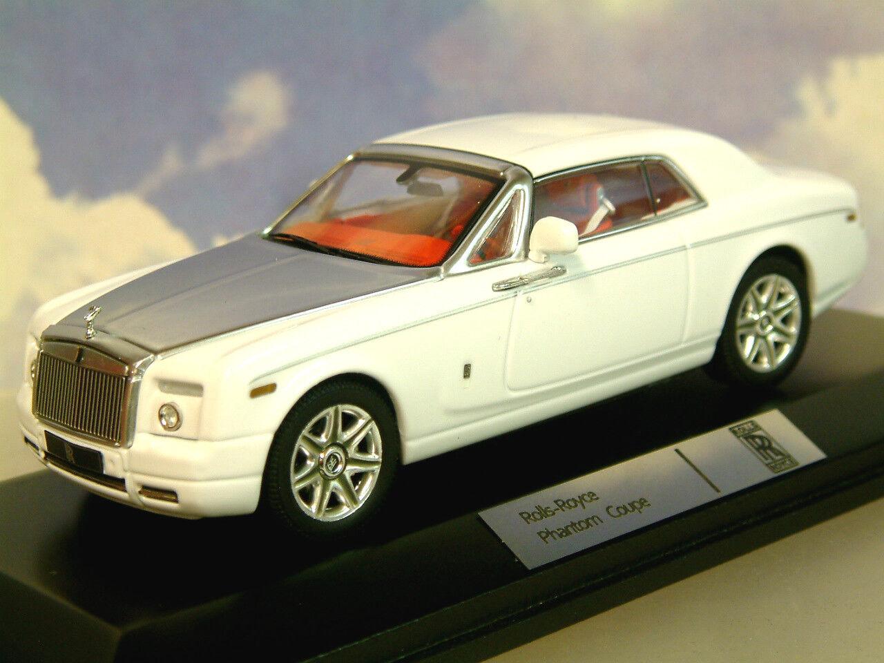 Superbe Ixo 1 43 Moulage sous Pression 2008 Rolls Royce Spectre Coupe en Blanc
