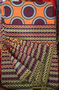 Ankara AFRICA Wax Print Cotone 180 GRAMMI CERCHIO modello Designs  </span>