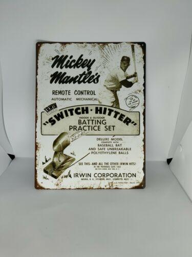 "1957 New York Yankee Mickey Mantle Switch Hitter Baseball Metal Sign 9x12/"" 60613"