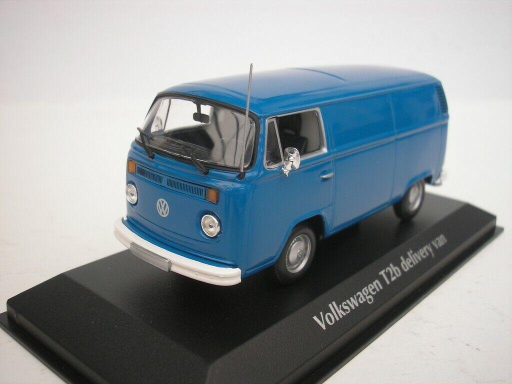 VW VOLKSWAGEN T2B T2 B FOURGONETTE 1972 BLEU 1 43 MAXICHAMPS 940053061 NEUF