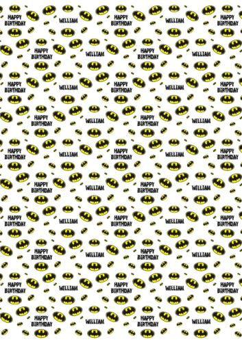 v2 Batman Personalised Wrapping Paper with 2 tags