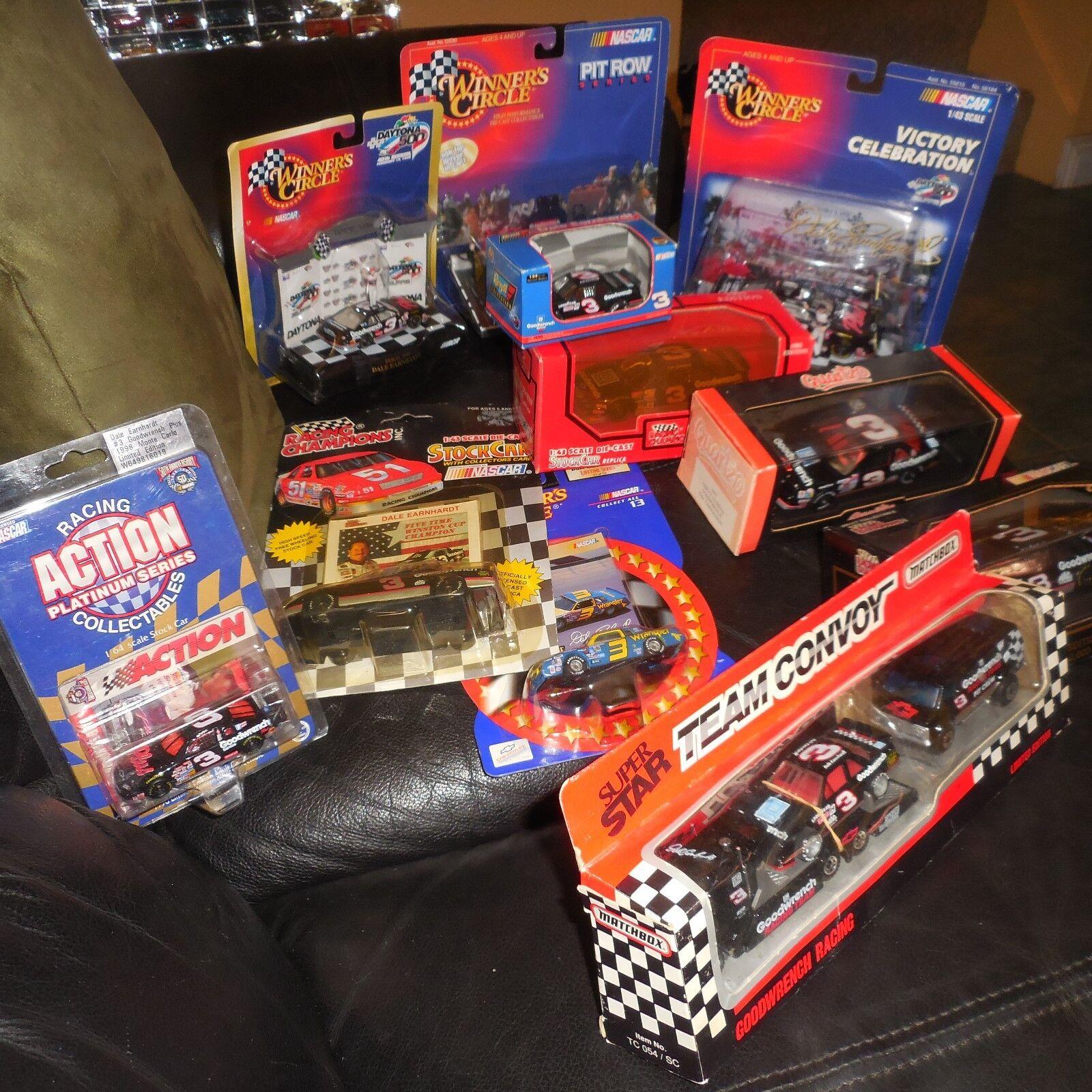 11 LOT DALE EARNHARDT NASCAR  & 1 64 MATCHBOX WINNERS CIRCLE REVELL ACTION +