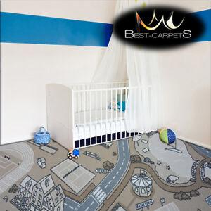 Anti Slip Children S Carpet Street Beige Kids Play Area Bedroom Rug Any Size Ebay