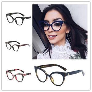 88ae9c1144 Image is loading Fashion-Reading-Eyeglasses-Optical-Plain-Glasses-Frames- Women-