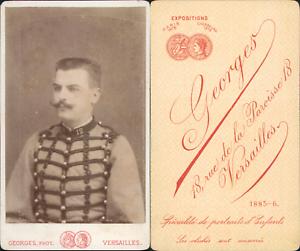 Georges-Versailles-Militaire-de-la-12e-en-uniforme-a-brandebourgs-circa-1880