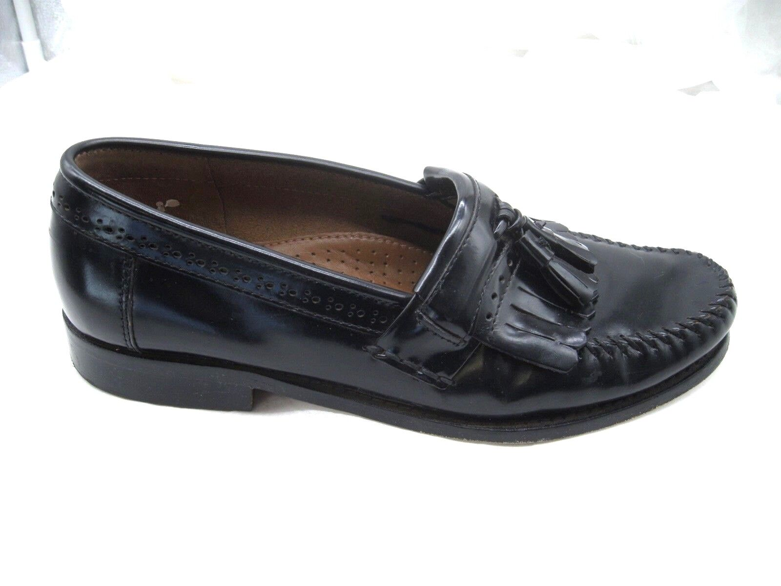 Bass & Co. Weejuns Jeremy black kiltie tassel dress loafers Mens 9D 42 shoes