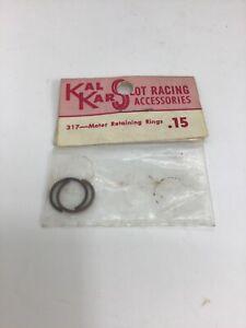 Vintage-KAL-KAR-SLOT-CAR-RACING-PARTS-317-Motor-Retaining-Rings