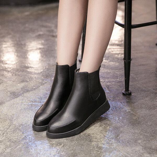 b7d64f83448560 stivali stivali stivali stivaletti eleganti bassi comodi tacco 3 cm nero  simil pelle CW816   Une Grande Variété De Marchandises   Qualité Fiable  164c60