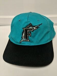 new styles b451a 6081f Details about VINTAGE FLORIDA MARLINS Throwback Logo MLB Baseball Cap Hat  Snapback Youth