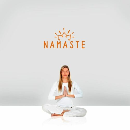 Spiritual Namaste Wall Decal Wall Sticker Yoga Meditation Vinyl Wall Art