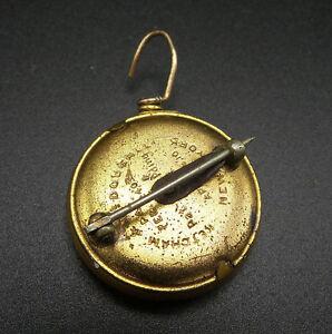 washed vintage Gold brass