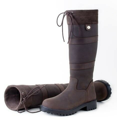 Rhinegold Elite Brooklyn RIDING YARD COUNTRY BOOTS LEATHER sizes 3 - 8 adult