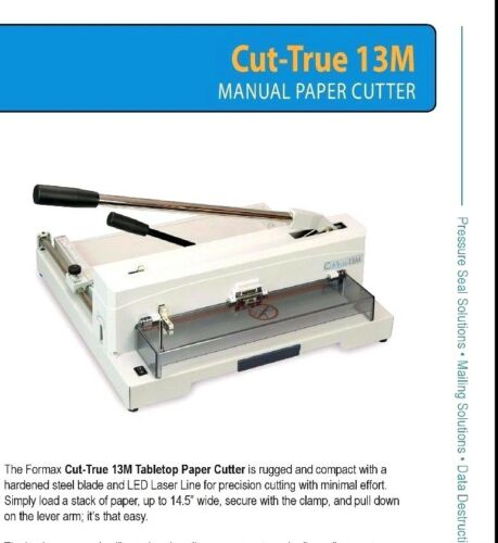 Formax CUT-TRU 13M Ream Stack Paper Cutter Authorized Dealer table top