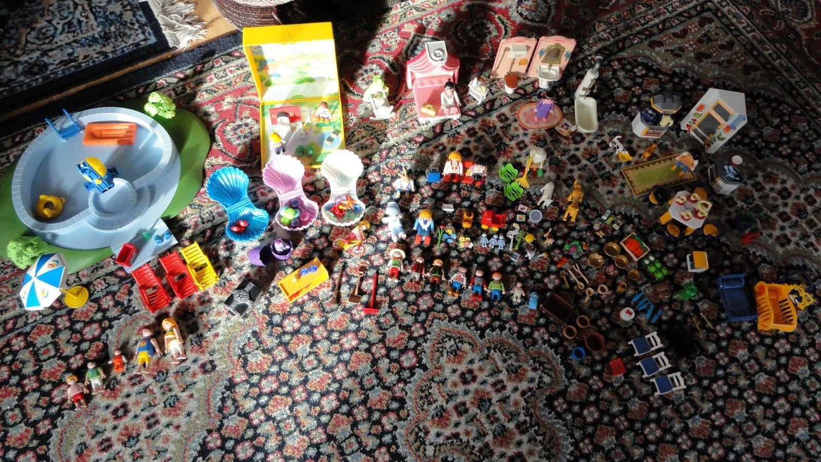 Playmobil Konvolut Sammlung Rarität Schwimmbad Küche Schlafzimmer Bad Microwelt