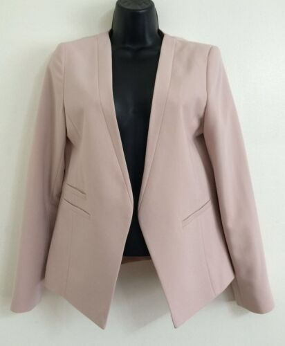 NEW Ex WALLIS Blush Pink Tailored Fitted Structure Soft Blazer Jacket Size 10-18