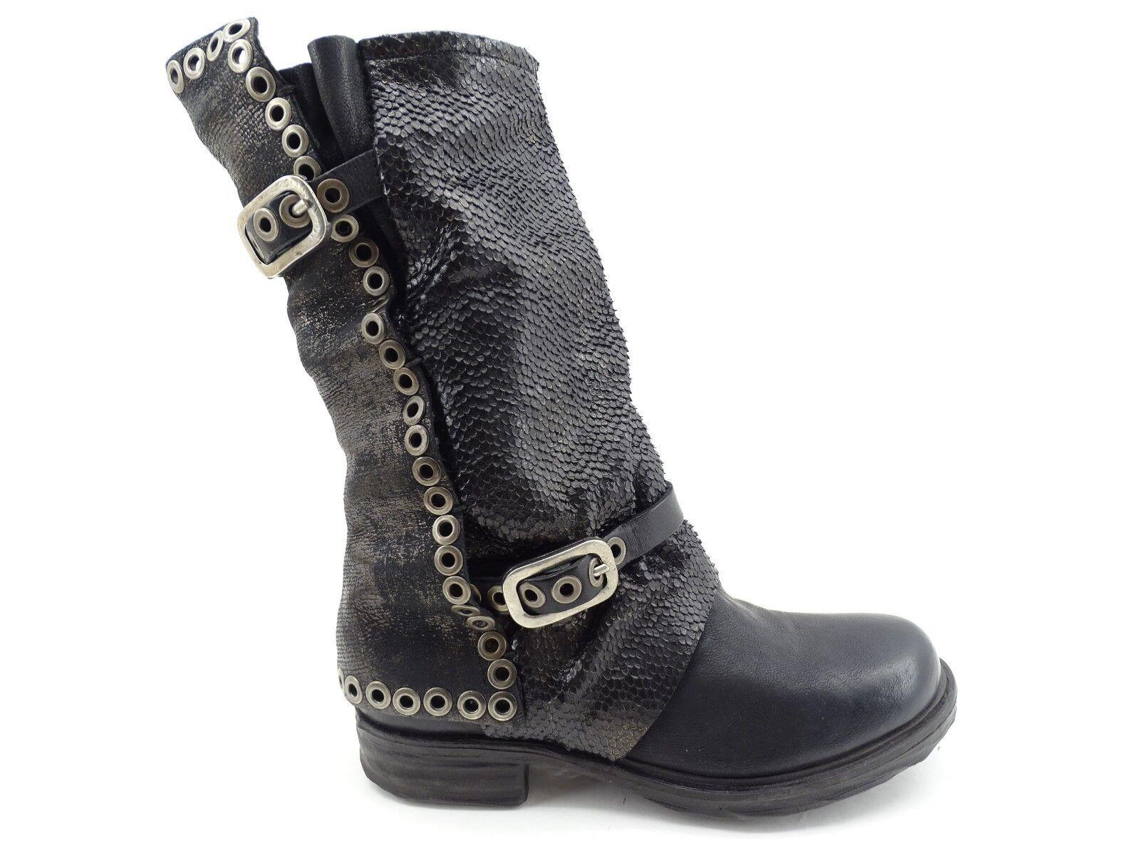 A.S.98 (AirStep) Stiefel für Damen Stiefel Stiefelette (Schwarz) Leder Leder Leder Gr 37   5882b1