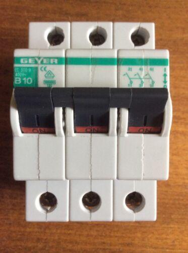Sicherungsautomat Leitungsschutzschalter B10 EC 310 B 400V~ GEYER