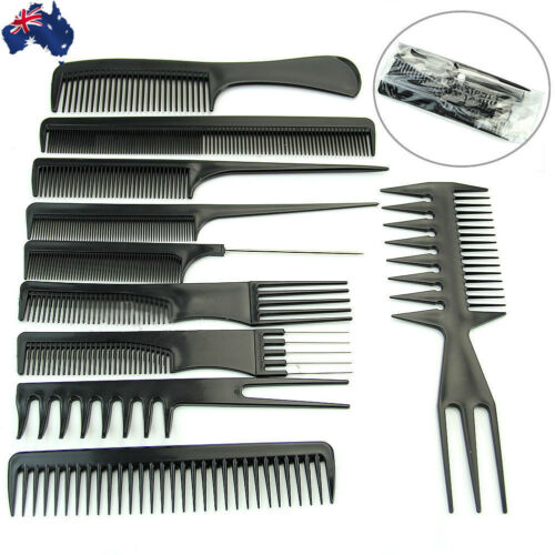 1 of 1 - 10X Beauty Salon Hair Styling Hairdressing Plastic Barbers Brush Combs JHCOM1025