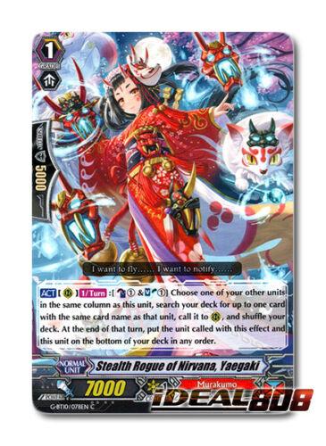C Pac Yaegaki Cardfight Vanguard  x 4 Stealth Rogue of Nirvana G-BT10//078EN