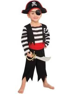 Kids-Pirate-Costume-Toddler-Deckhand-Captain-Hook-Fancy-Dress-Boys-Girls-Outfit