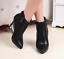 Womens Vogue Side Zippers Pointed Toe Stilettos Ankle Boots PU Shoes Red A139